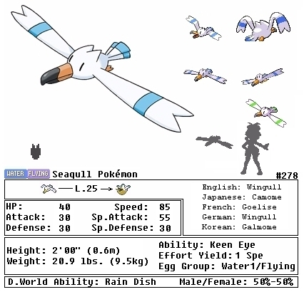 Image Gallery Wingull Evolution