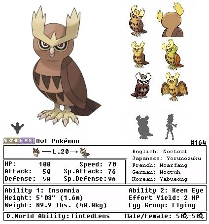 Pokemon Noctowl Evolution Images | Pokemon Images